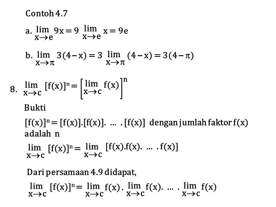 [f(x)]n = [f(x)].[f(x)]. … . [f(x)] dengan jumlah faktor f(x) adalah n